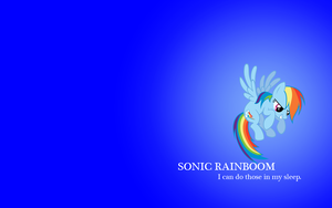 Sonic Rainboom Wallpaper by VampyricArts