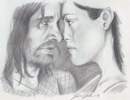 Aragorn and Arwen by Godisinvincible