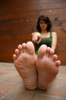 Franzi toe pointing by foot-portrait