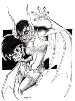 Lady Manbat by misfitcorner