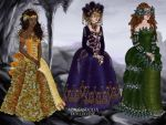 Venetian ball gowns by Eolewyn1010