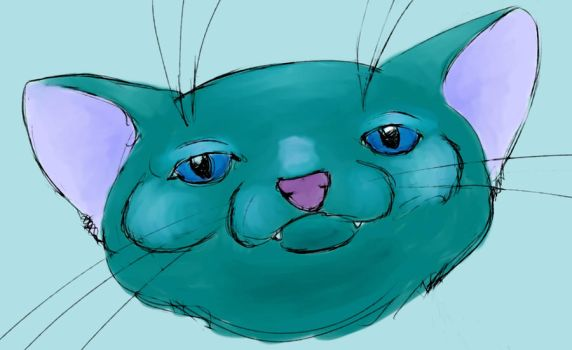 Blue Cat by Inkerbel