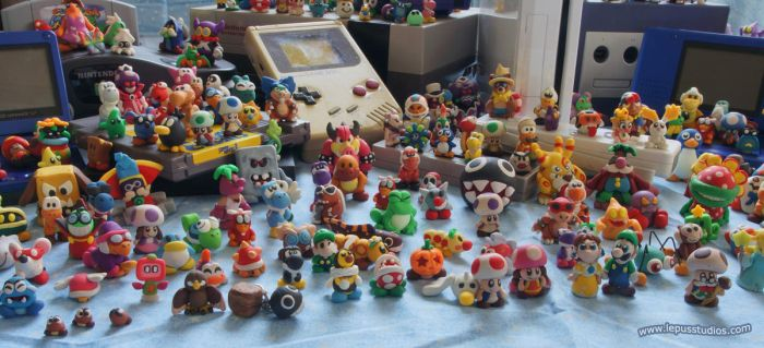 Super Mario Statues - Systems2 by Lepus-Marj