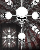 Circle Skulls T-Shirt Design by Oblivion-design