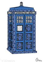 Paisley Tardis by UnknownOwen