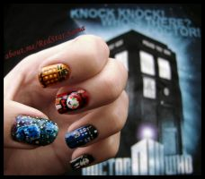 Dr Who NailArt! by RedStar-Sama