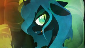 Queen Chrysalis - Mother of Greed - Wallpaper by Rariedash