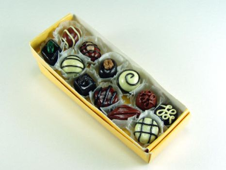 Miniature Pralines by ChocolateDecadence