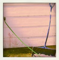 the hose and the shovel by Izaaaaa