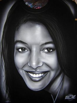 Portrait of a girl by iPaintAirbrushStudio