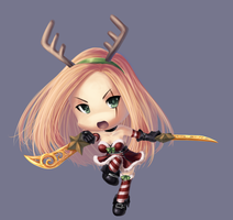 League of Legends - Slay Belle Katarina chibi by Murasaki-Hana