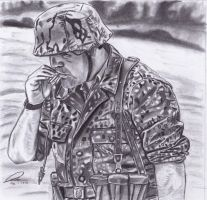 Smoking Waffen SS soldier by DeoKristady