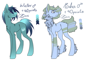 Winter and Mocha Adopt [CLOSED] by Mary-Maru