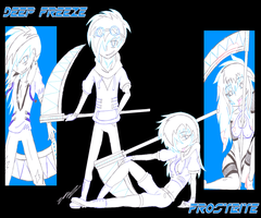 Human OC Special: Deep Freeze and Frostbite by DJNightmar3