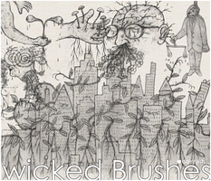 Wicked brushes by daintyish