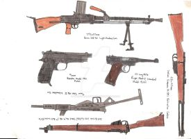 Assorted Guns 1 by stopsigndrawer81