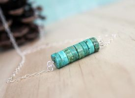 Sea blue nacklace by earthexpressions