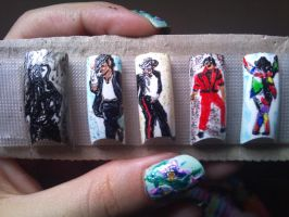 Michael Jackson nail art by amanda04