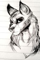 Wolf doodle by Yellowbellyhill