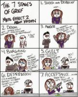 Mass Effect 2: The 7 Stages of Grief about Kaidan by DivaXenia