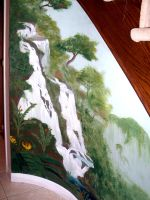Waterfall Mural by Illiamdra