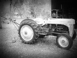 Black and White Ford Tractor by HarleyQuinn2012