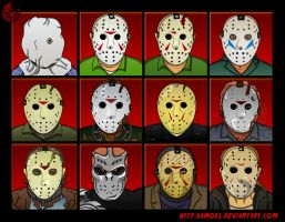 Jason Voorhees Evolution by XAMOEL