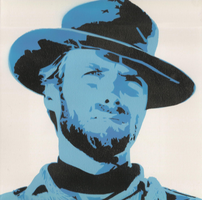 Clint Eastwood Stencil by Daftmarzo