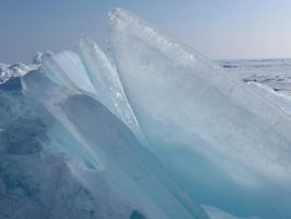 Closeup Ice Shards by Michies-Photographyy