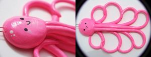 Hot Pink Octopus Pendant by Shelby-JoJewelry