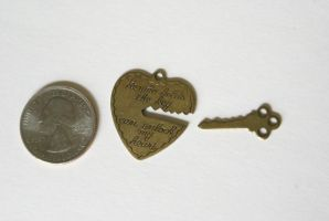 Key to my Heart Charms by MonsterBrandCrafts