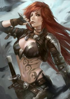 Katarina the Sinister Blade by Skyzocat