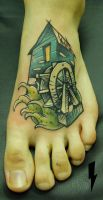 tattoo watermill by jukan6