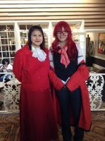 Madame Red and Grell by Moon-Potato