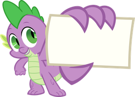 Spike - My Card (Vector) by BobtheLurker