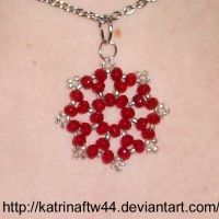 Red and silver pendant by KatrinaFTW44