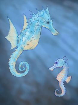 Horsea and Seadra by RtRadke