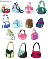 Pokemon princesses 8 - bags by Hapuriainen