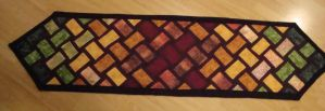 Table runner quilt by louisechughes