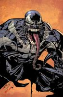 Leinil Venom ink and colors by JoshTempleton