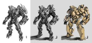 Mecha sketch 3 by zylhalo