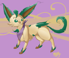 Evergreen the Leafeon by vanilla-dog