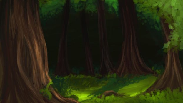 Forest Background (Day) for Visual Novel by Viridea