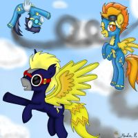 Storm with the Wonderbolts by FinnishGirl97