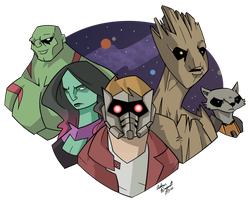 Guardians of the Galaxy by Artdude529