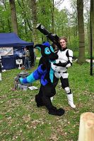 mr.Bubbles and stormtrooper by FurryFursuitMaker