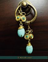 Egyptian Coil Turquoise Earrings by mariachughtai