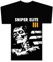 Sniper Elite III design on t shirt template by CreativeDyslexic