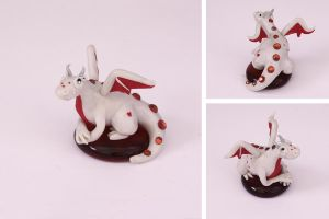 Valentine's Day Dragon - Pearl White (Female) by LitefootsLilBestiary