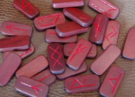 Blood Wood Runes by karenishra